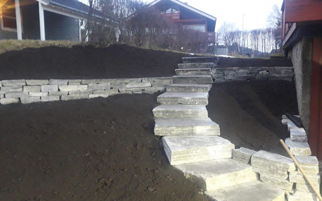 Trapp og mur